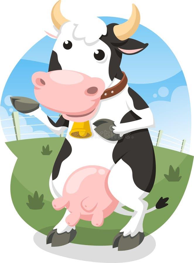 Vaca de ordeño stock de ilustración