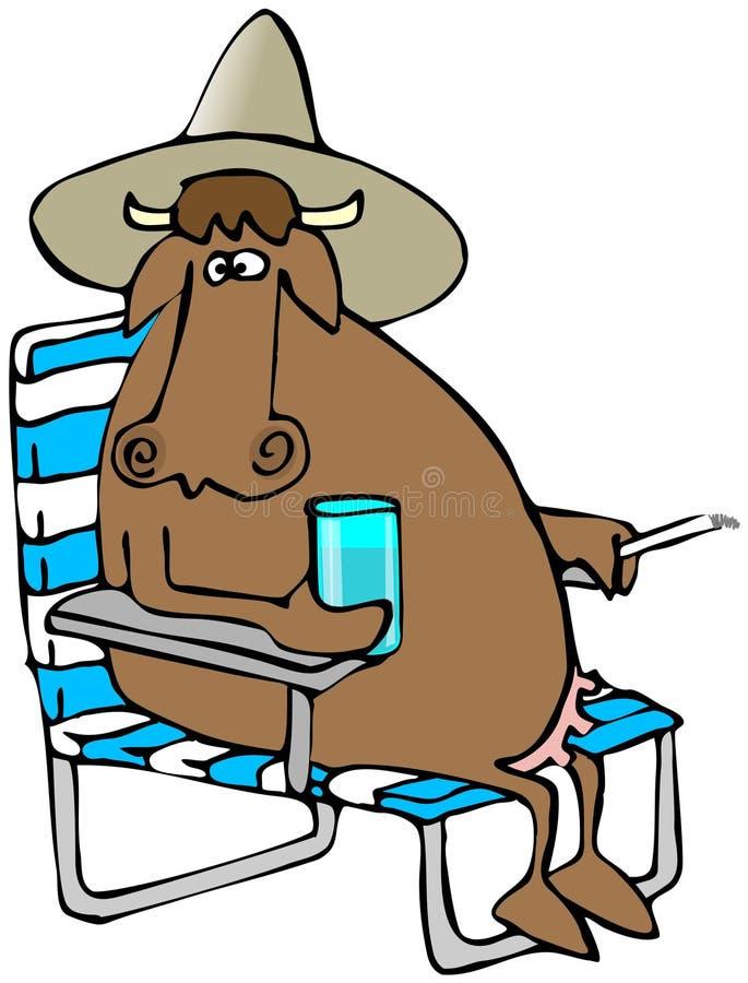 Vaca de relaxamento ilustração stock
