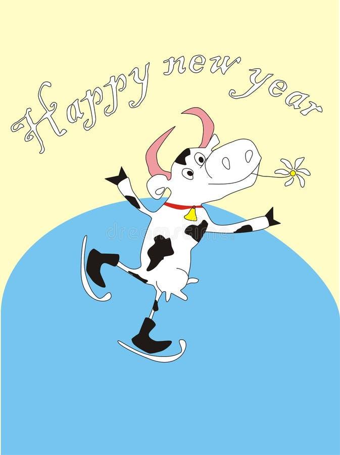 Download Vaca del Año Nuevo ilustración del vector. Ilustración de diversión - 7275359