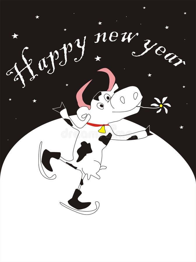 Download Vaca del Año Nuevo ilustración del vector. Ilustración de afortunado - 7275368