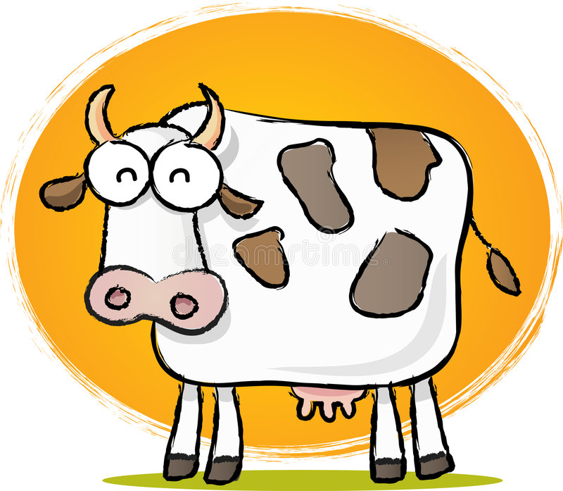 Vaca del bosquejo stock de ilustración