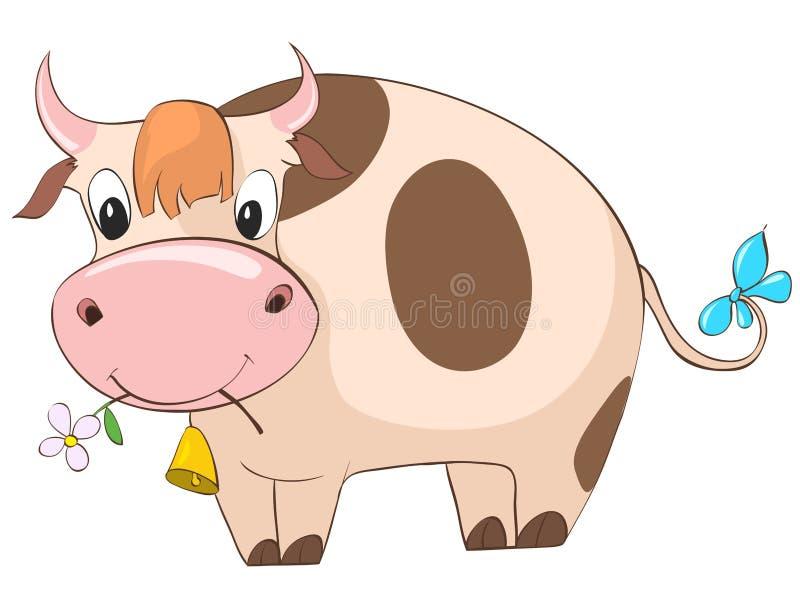 Imagenes Vacas Animadas: Vaca Del Personaje De Dibujos Animados Ilustración Del