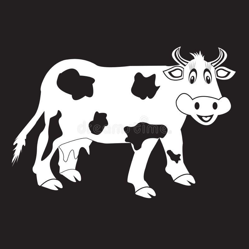 Vaca do estêncil ilustração royalty free