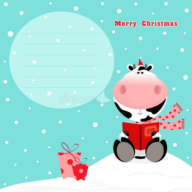 Vaca do Natal ilustração royalty free