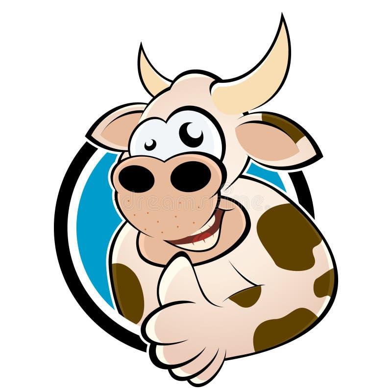 Vaca dos desenhos animados ilustração stock