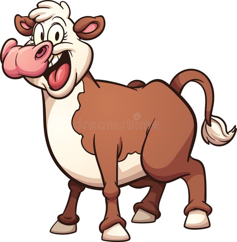 Vaca dos desenhos animados ilustração royalty free