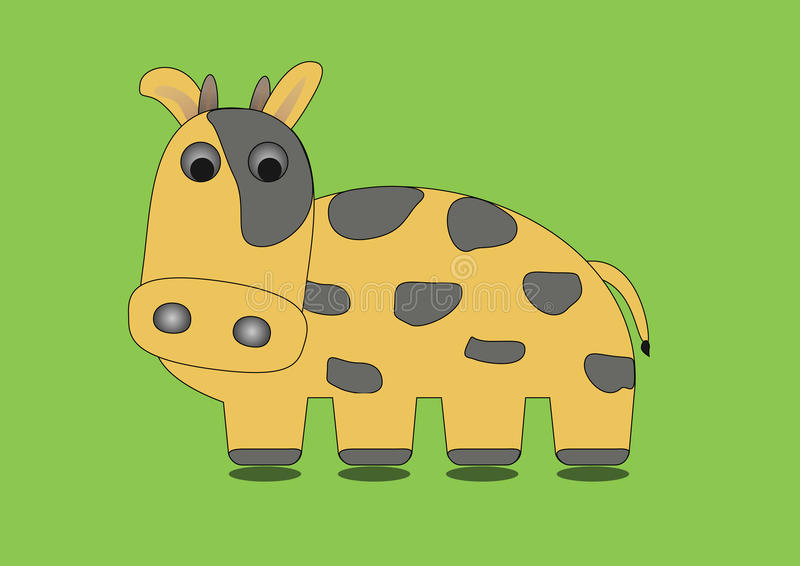 Download Vaca en fondo verde ilustración del vector. Ilustración de color - 42442358