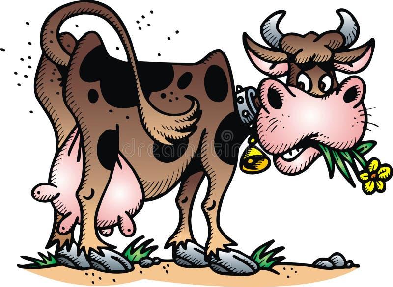Vaca feliz ilustração stock