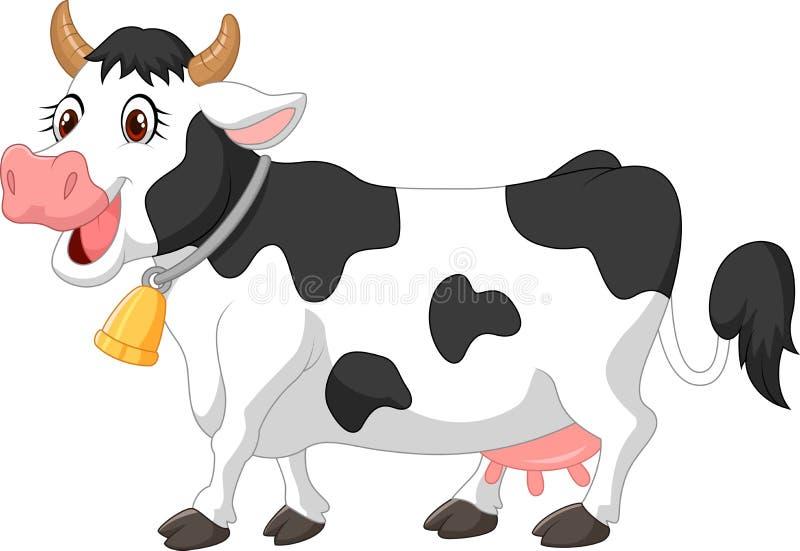 Vaca feliz dos desenhos animados ilustração royalty free