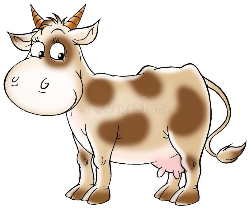 Vaca manchada ilustração royalty free