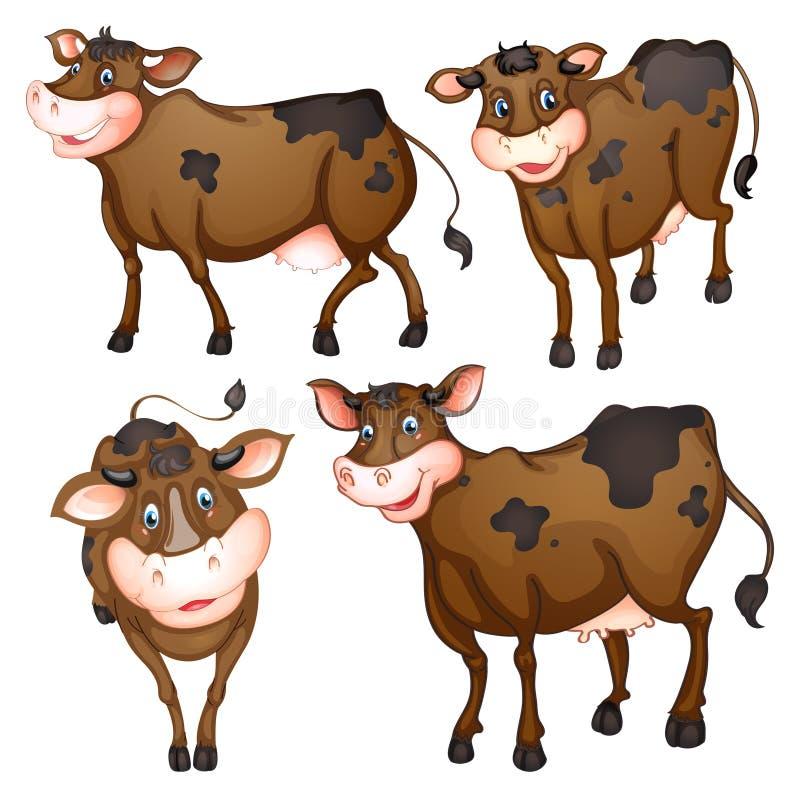 vaca marrón stock de ilustración