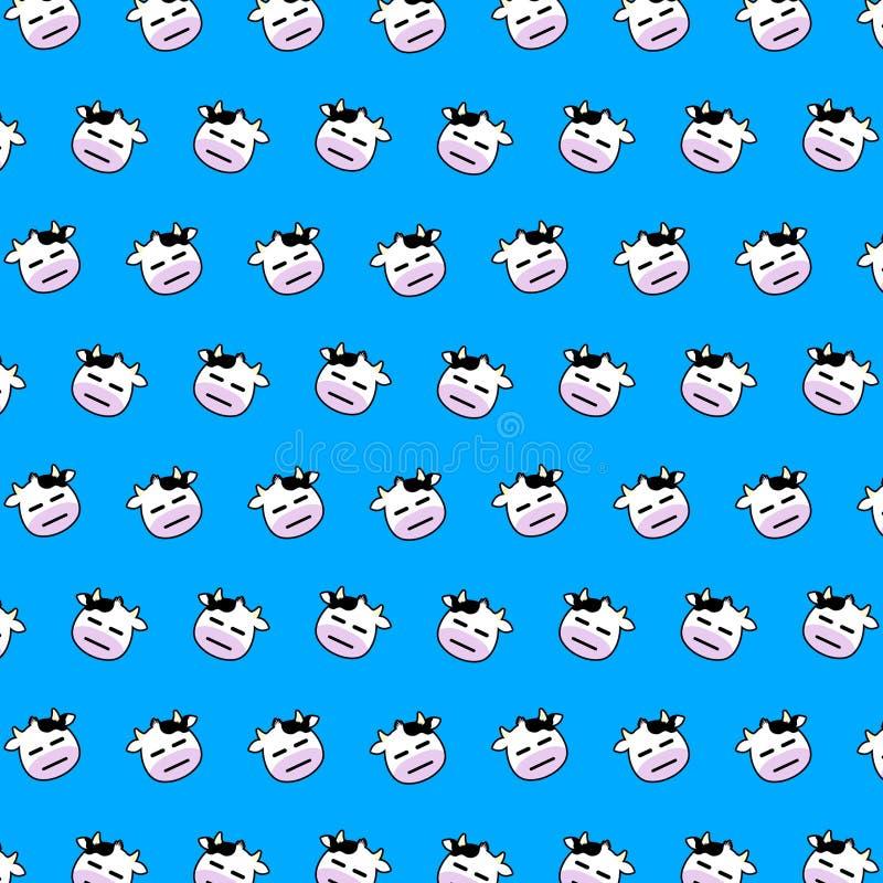 Vaca - modelo 25 del emoji ilustración del vector