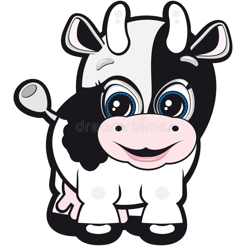 Vaca pequena ilustração do vetor