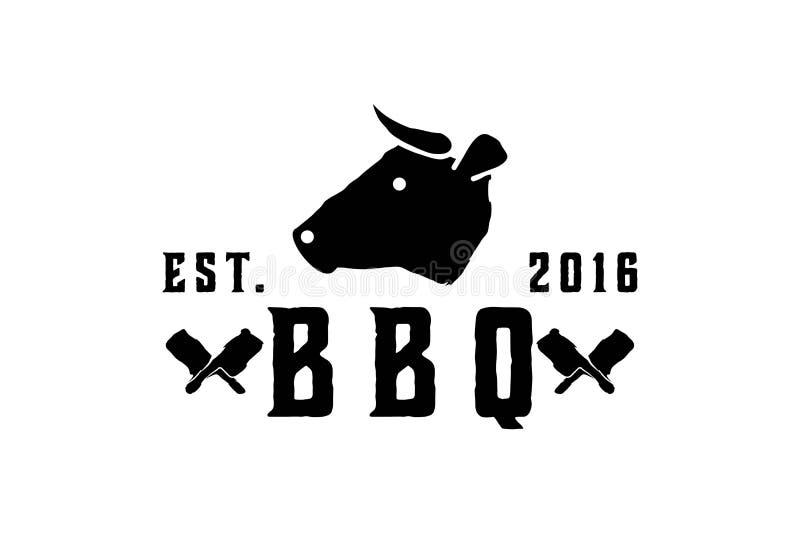 vaca principal, logotipo de la matanza libre illustration