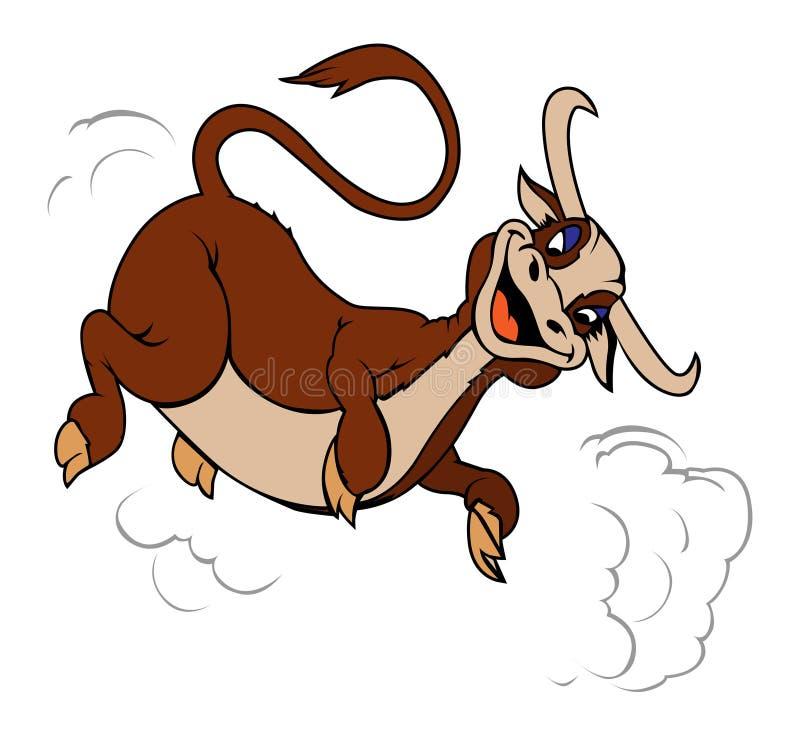 A vaca salta ilustração stock