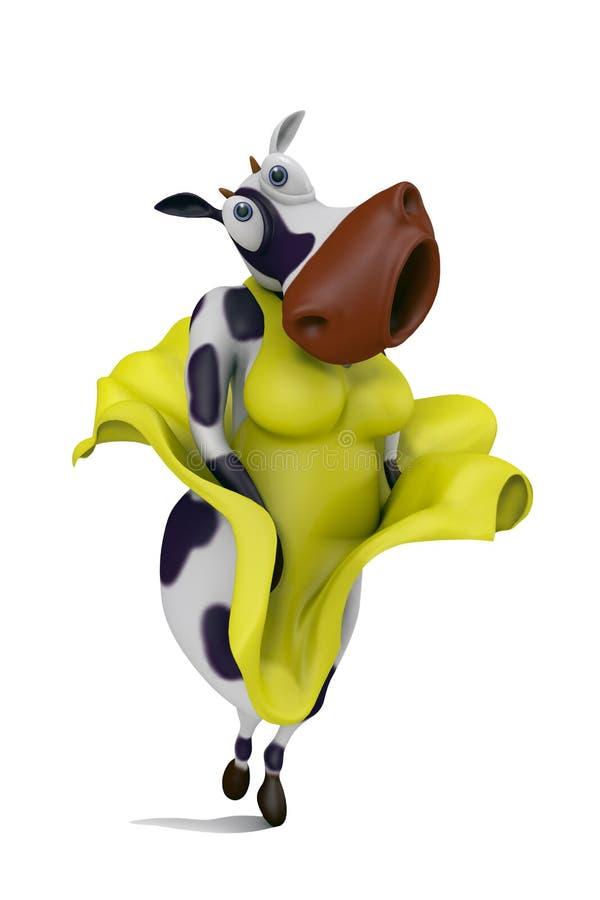 vaca 'sexy' da ilustração 3D ilustração royalty free