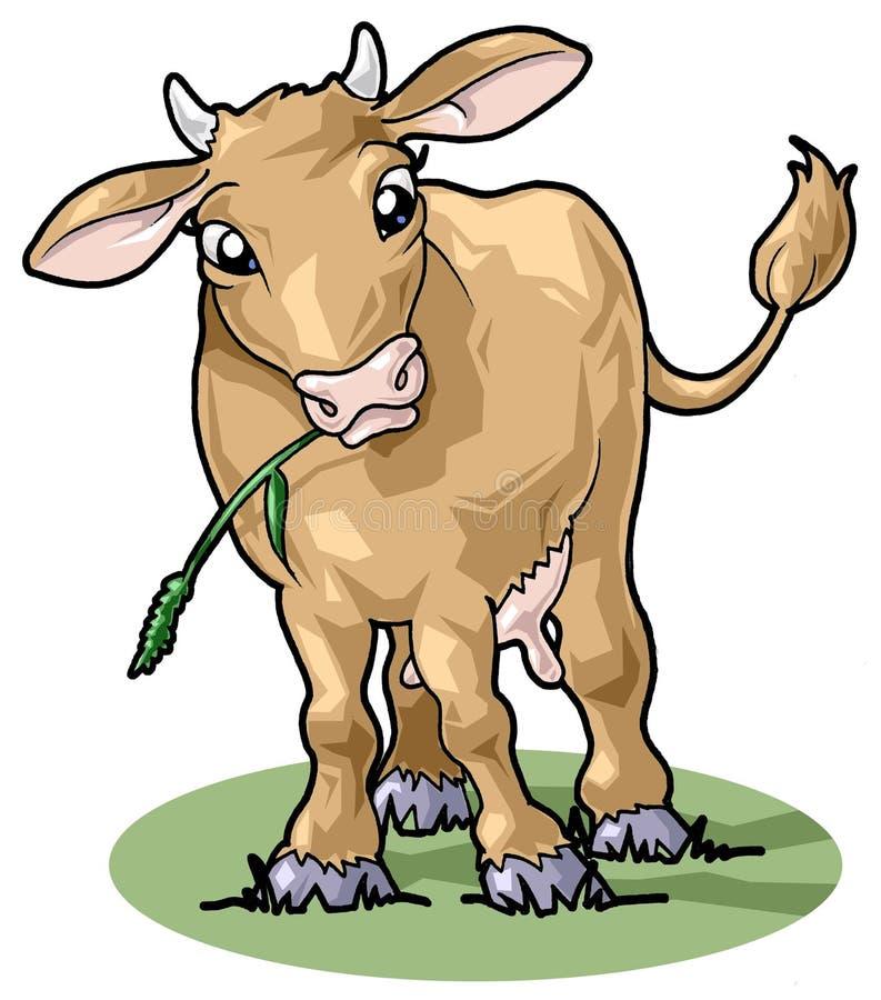 Vaca sonriente linda. Estilo de la historieta stock de ilustración