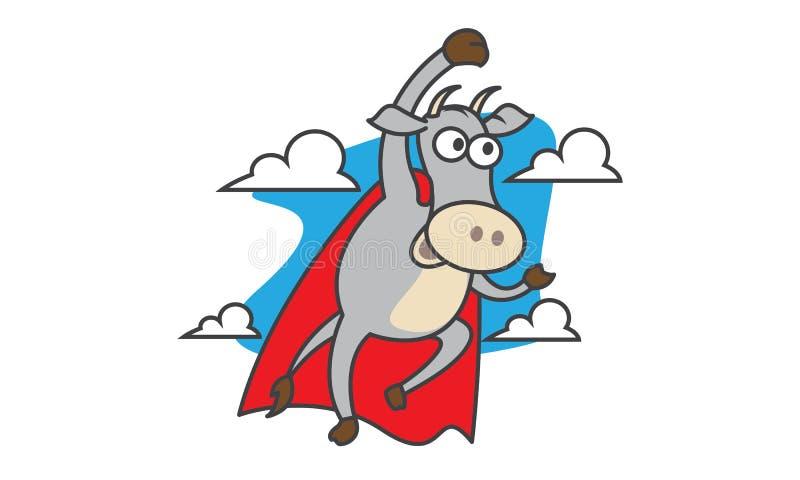 Vaca super ilustração royalty free