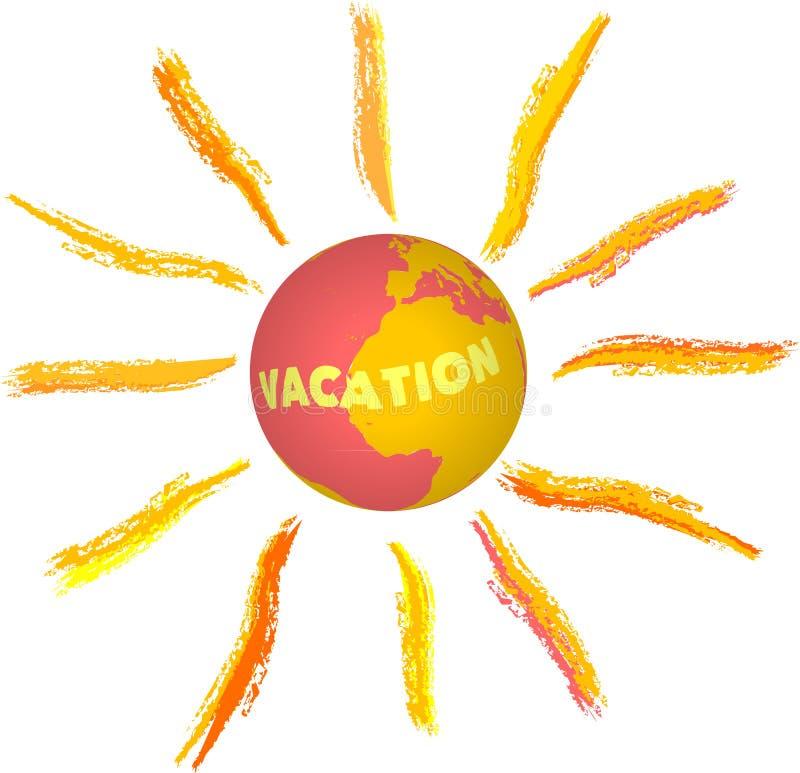 Vacaciones, ilustración del vector
