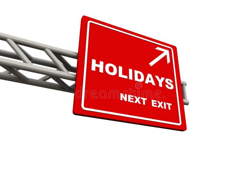 Vacaciones stock de ilustración