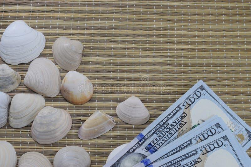 Vacaciones, coquillages se trouvent sur la couverture de plage photo libre de droits