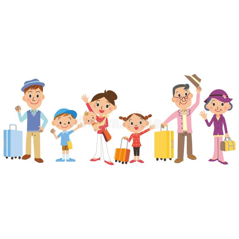 Vacaciones de familia libre illustration