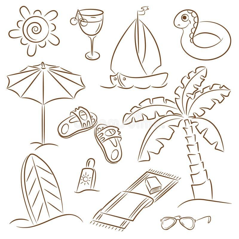 Vacaciones de la playa ilustración del vector