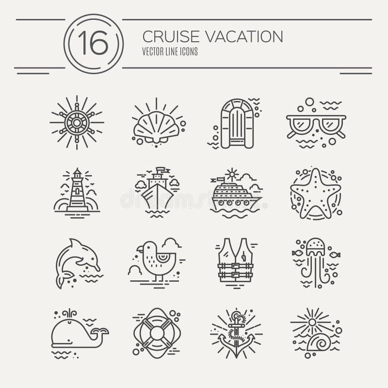 Vacaciones de la travesía ilustración del vector