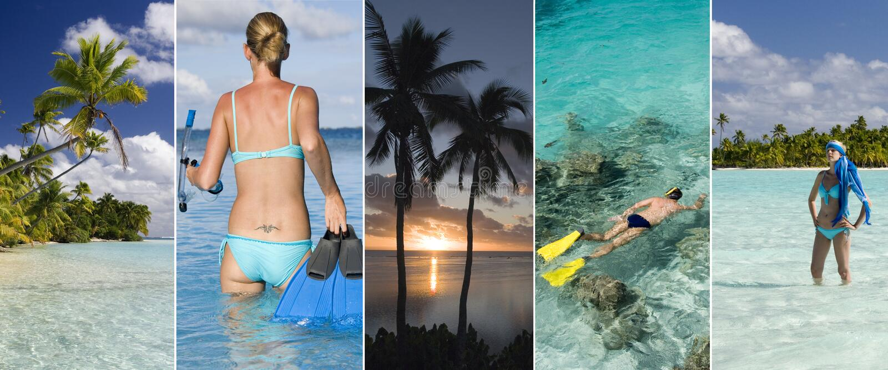 Vacaciones de lujo - islas de South Pacific fotos de archivo libres de regalías