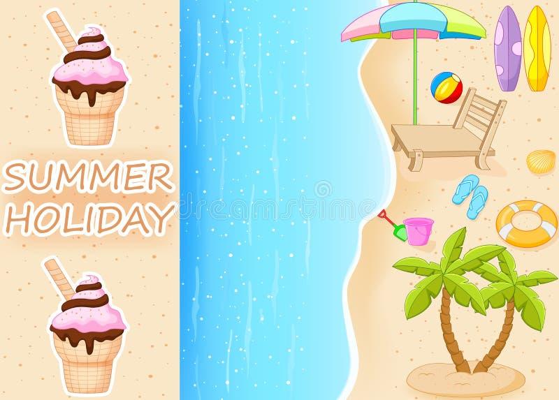 Download Vacaciones de verano ilustración del vector. Ilustración de hielo - 41903737