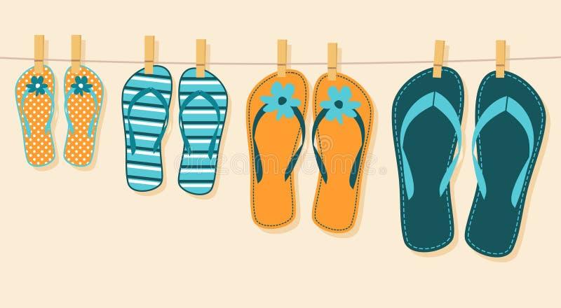 Vacaciones de verano de la familia stock de ilustración