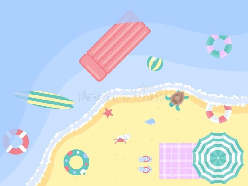 Vacaciones de verano, ejemplo del vector del cartel de la playa del verano libre illustration