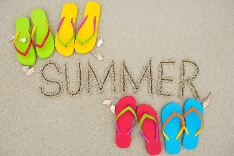 Vacaciones de verano en la playa imagen de archivo libre de regalías