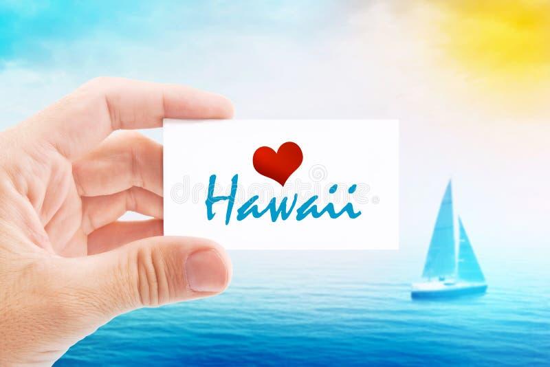 Vacaciones de verano en la playa de Hawaii fotos de archivo libres de regalías