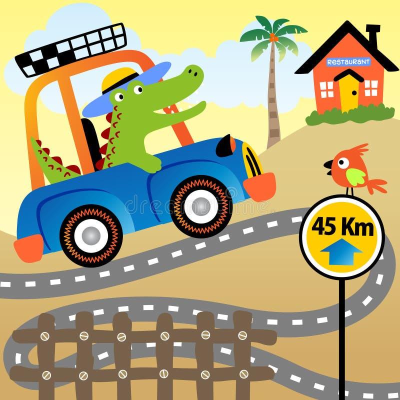 Vacaciones del cocodrilo stock de ilustración