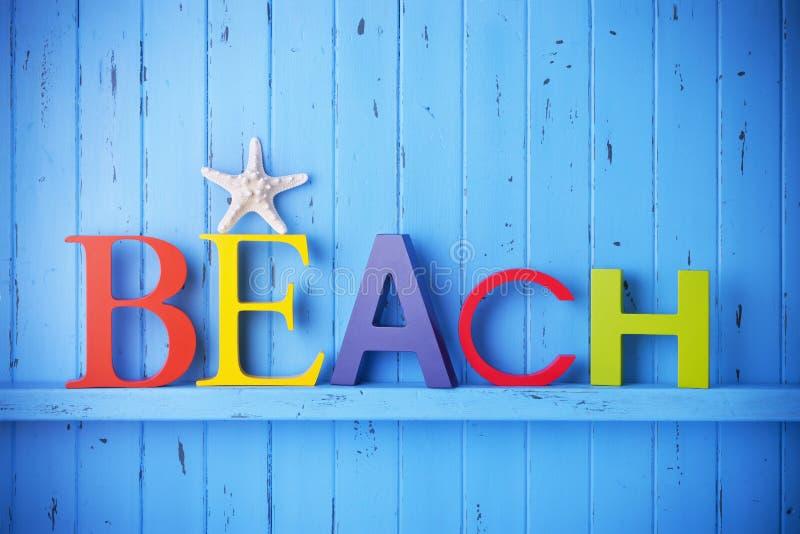 Vacaciones del viaje del fondo de la playa imágenes de archivo libres de regalías
