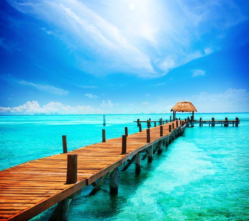 Vacaciones en paraíso tropical fotos de archivo