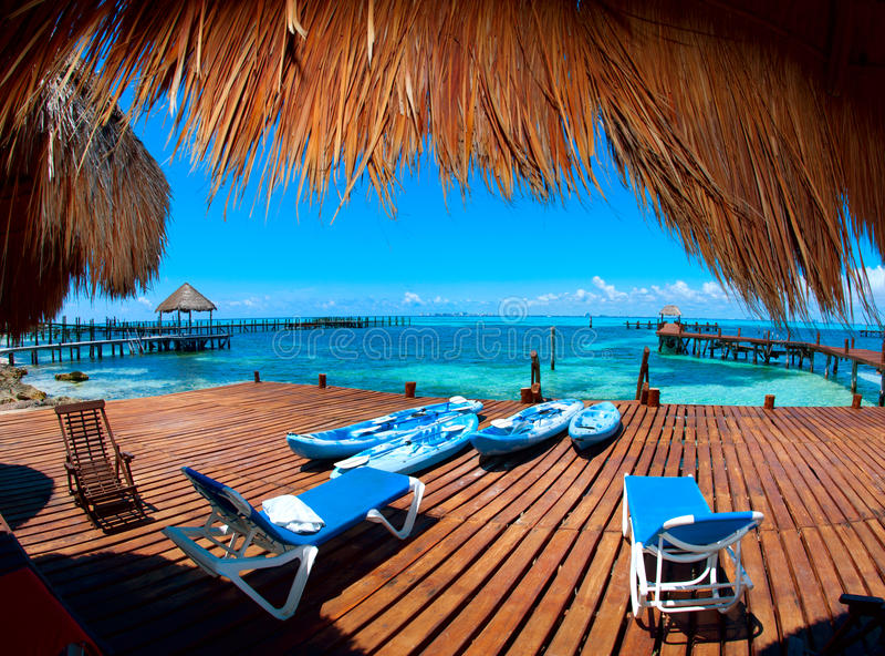 Vacaciones en paraíso tropical foto de archivo