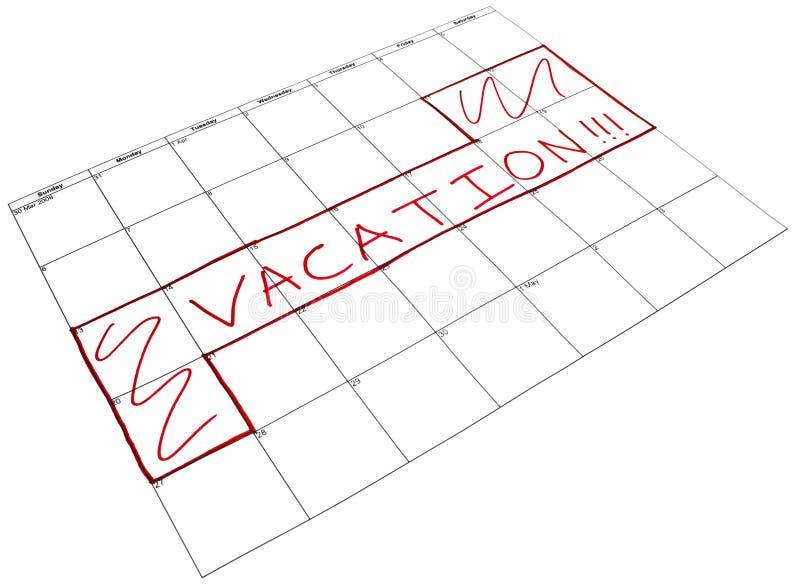 Vacaciones programadas foto de archivo