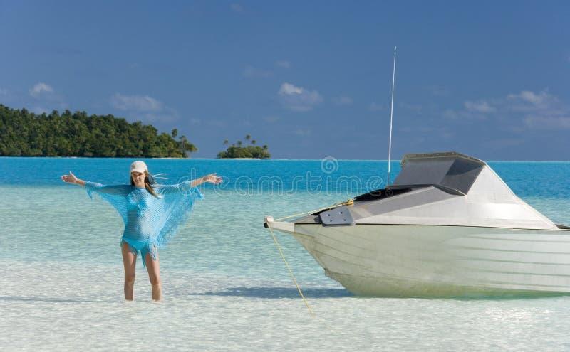 Vacaciones tropicales - islas de cocinero fotografía de archivo libre de regalías