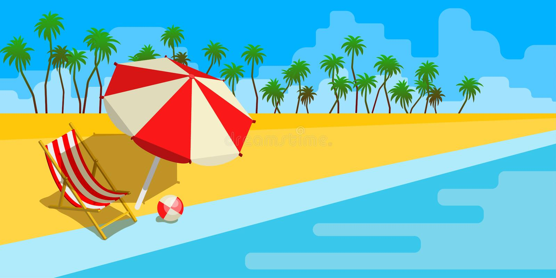 Vacaciones y concepto del viaje stock de ilustración