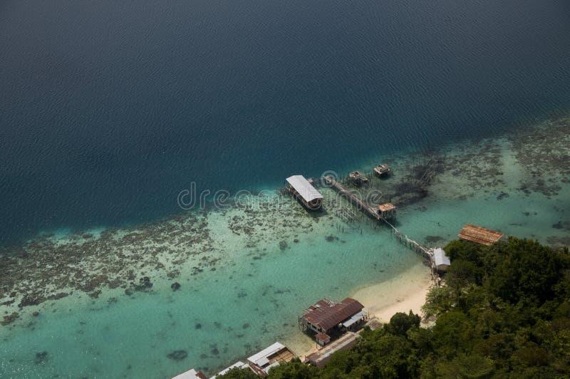 Vacances à Bohey Dulang Sabah Malaysia photos libres de droits