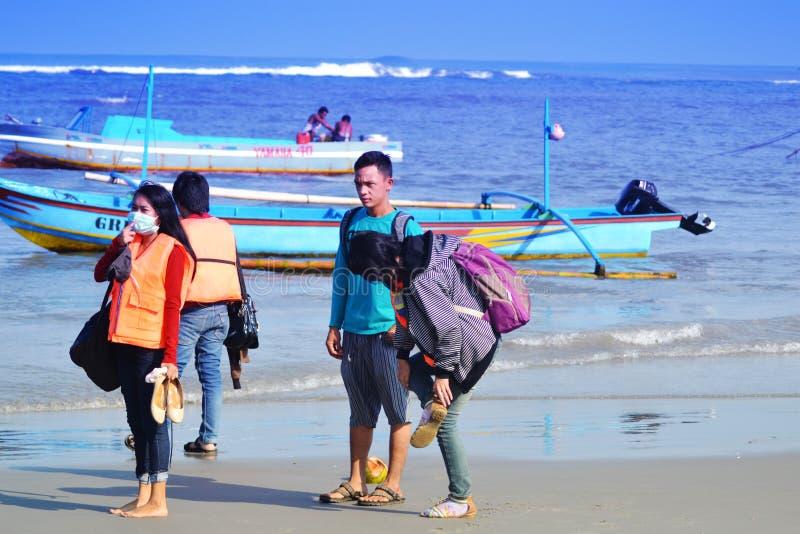 vacances à tapak padri bengkulu indonésie photo stock