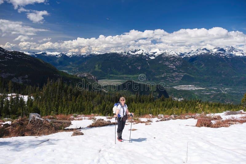 Vacances actives près de Whistler, la Colombie-Britannique images stock