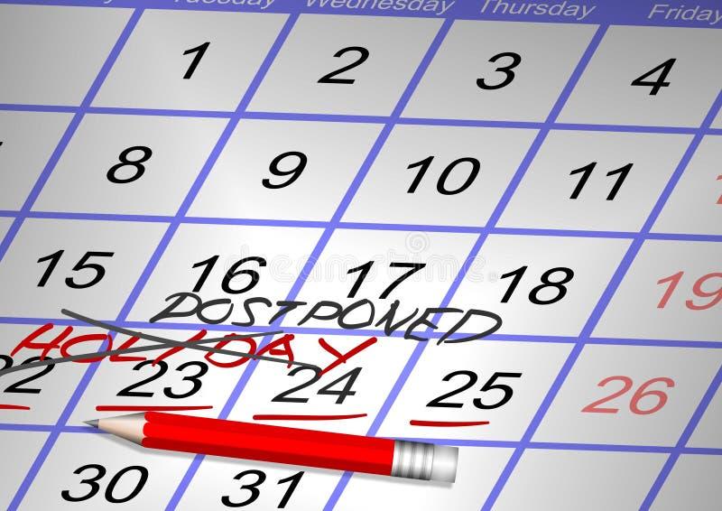 Vacances annulées illustration de vecteur