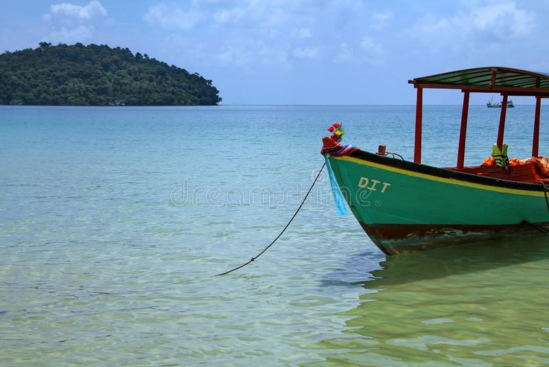 Vacances au Cambodge belle vue de la plage Monde impressionnant de voyage Repos d'été images libres de droits