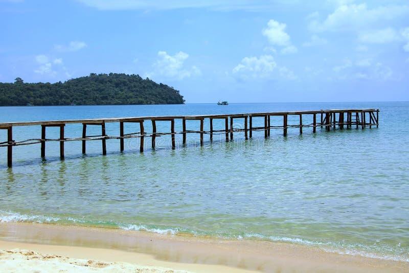 Vacances au Cambodge belle vue de la plage Monde impressionnant de voyage Repos d'été images stock