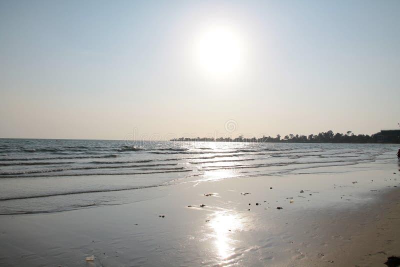 Vacances au Cambodge belle vue de la plage Monde impressionnant de voyage Repos d'été image stock