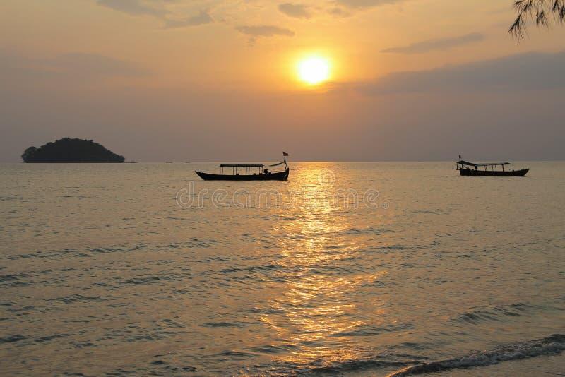 Vacances au Cambodge belle vue de la plage Monde impressionnant de voyage Repos d'été photos stock