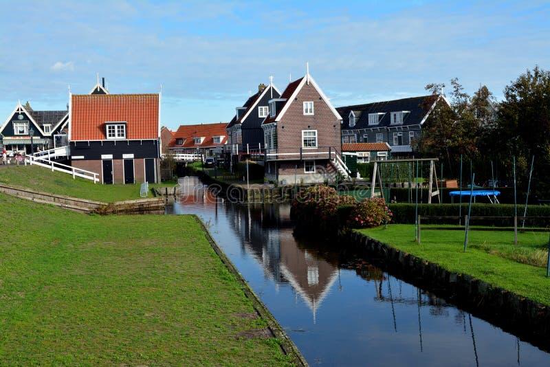 Vacances au paysage d'Amsterdam et de volendam images libres de droits